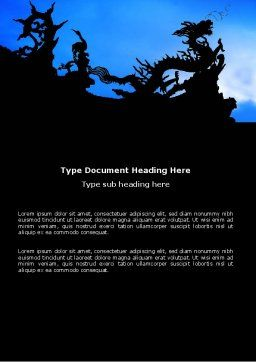 Chinese Dragons Word Template Cover Page