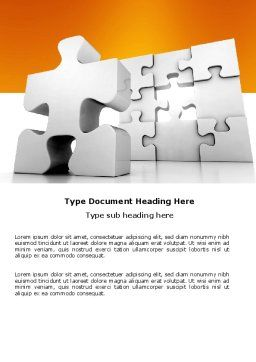 Business Puzzle Word Template, Cover Page, 03587, Business Concepts — PoweredTemplate.com