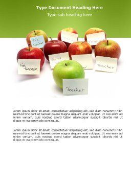 Apple for Teacher Word Template Cover Page