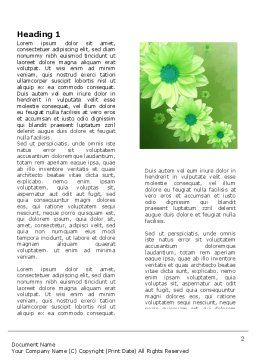 Green Flowers Word Template, First Inner Page, 03594, Holiday/Special Occasion — PoweredTemplate.com
