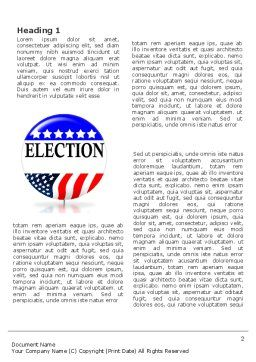 USA Elections Word Template First Inner Page