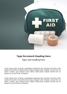 First Aid Set Word Template, Cover Page, 03596, Medical — PoweredTemplate.com