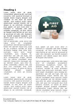 First Aid Set Word Template, First Inner Page, 03596, Medical — PoweredTemplate.com