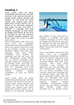 Swimming Pool Word Template First Inner Page