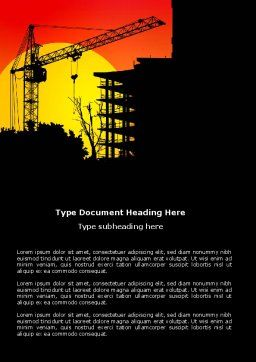 Building Set Word Template, Cover Page, 03600, Construction — PoweredTemplate.com