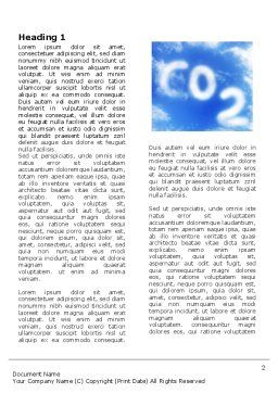 Carbonic Acid Word Template, First Inner Page, 03601, Nature & Environment — PoweredTemplate.com