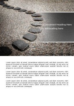 Winding Road Word Template, Cover Page, 03602, Business Concepts — PoweredTemplate.com