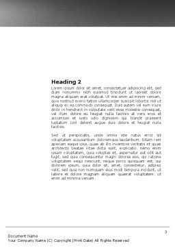 Winding Road Word Template, Second Inner Page, 03602, Business Concepts — PoweredTemplate.com