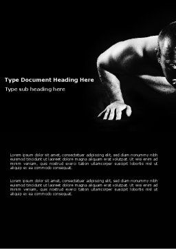 Men Sport Word Template, Cover Page, 03606, Sports — PoweredTemplate.com