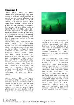 Northern Lights Word Template, First Inner Page, 03607, Nature & Environment — PoweredTemplate.com
