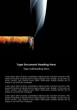 Nicotine Word Template, Cover Page, 03609, Medical — PoweredTemplate.com