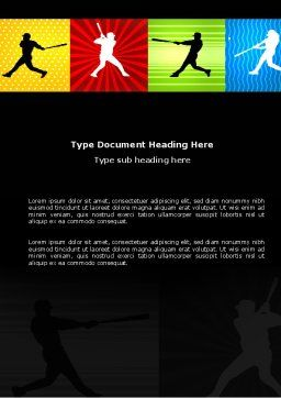 Baseball Bat Hit Word Template, Cover Page, 03612, Sports — PoweredTemplate.com