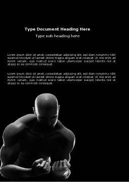 Bodybuilder Word Template, Cover Page, 03613, Sports — PoweredTemplate.com