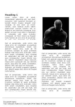 Bodybuilder Word Template, First Inner Page, 03613, Sports — PoweredTemplate.com