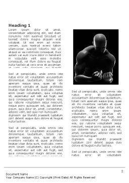 Bodybuilder Word Template, First Inner Page, 03613, Sports — PoweredTemplate.com