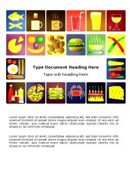 Fast Food Ingredients Word Template, Cover Page, 03614, Food & Beverage — PoweredTemplate.com