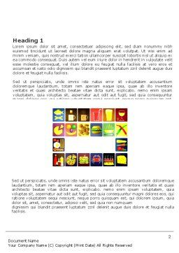 Fast Food Ingredients Word Template First Inner Page