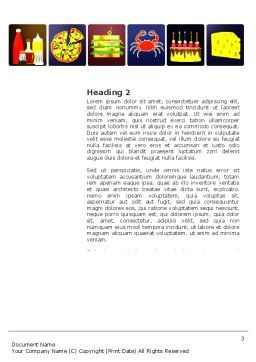 Fast Food Ingredients Word Template Second Inner Page