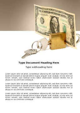 Money Savings Word Template, Cover Page, 03616, Financial/Accounting — PoweredTemplate.com