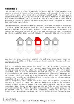 Typical House Of Suburban Icon Word Template, First Inner Page, 03620, Construction — PoweredTemplate.com