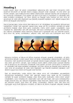 Sunset Exercises Word Template, First Inner Page, 03624, Sports — PoweredTemplate.com