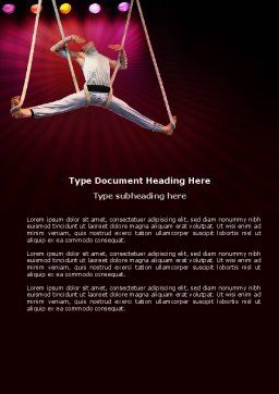 Circus Gymnast Word Template, Cover Page, 03626, Art & Entertainment — PoweredTemplate.com