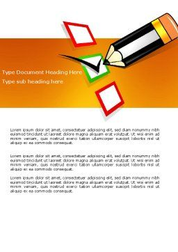 Questionnaire Word Template, Cover Page, 03627, General — PoweredTemplate.com