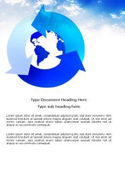 Global Recycle Word Template Cover Page