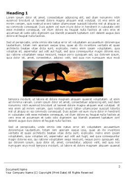 Panther Word Template, First Inner Page, 03629, Agriculture and Animals — PoweredTemplate.com