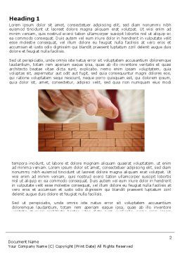 The Wall Word Template, First Inner Page, 03630, Construction — PoweredTemplate.com