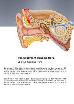 Auricle Word Template, Cover Page, 03631, Medical — PoweredTemplate.com