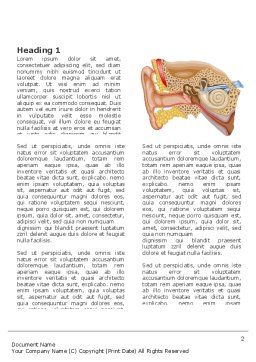 Auricle Word Template, First Inner Page, 03631, Medical — PoweredTemplate.com