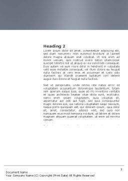 Auricle Word Template, Second Inner Page, 03631, Medical — PoweredTemplate.com