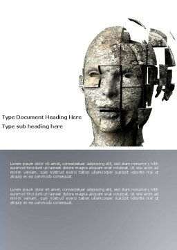 Cybernetician Word Template, Cover Page, 03634, Technology, Science & Computers — PoweredTemplate.com