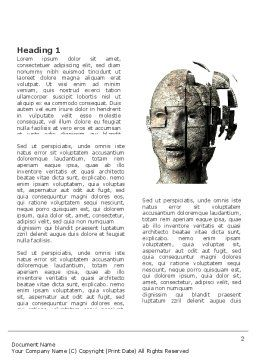 Cybernetician Word Template, First Inner Page, 03634, Technology, Science & Computers — PoweredTemplate.com