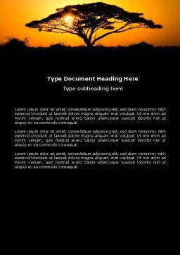 Baobab Word Template, Cover Page, 03635, Nature & Environment — PoweredTemplate.com