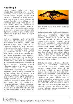 Baobab Word Template, First Inner Page, 03635, Nature & Environment — PoweredTemplate.com