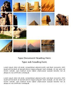 Traveling Word Template, Cover Page, 03640, Careers/Industry — PoweredTemplate.com