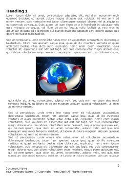 Save Earth Word Template, First Inner Page, 03643, Global — PoweredTemplate.com