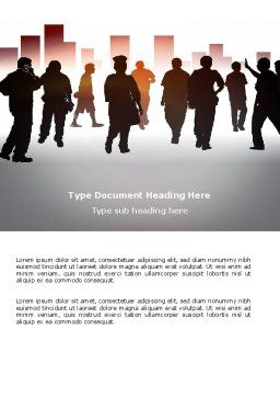 City People Word Template, Cover Page, 03644, Business Concepts — PoweredTemplate.com