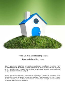 Model of House Word Template, Cover Page, 03648, Construction — PoweredTemplate.com
