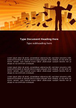 Feeling Word Template, Cover Page, 03649, Business — PoweredTemplate.com