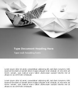 Paper Ship Word Template, Cover Page, 03650, Business Concepts — PoweredTemplate.com