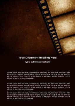 Movie Strip Word Template, Cover Page, 03652, Careers/Industry — PoweredTemplate.com