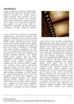 Movie Strip Word Template, First Inner Page, 03652, Careers/Industry — PoweredTemplate.com