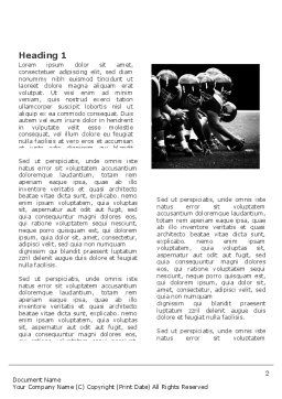 American Football Dallas Cowboys Word Template, First Inner Page, 03653, Sports — PoweredTemplate.com