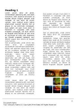 Face of Earth Word Template, First Inner Page, 03663, Global — PoweredTemplate.com