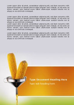 Corn Oil Word Template, Cover Page, 03664, Careers/Industry — PoweredTemplate.com