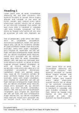 Corn Oil Word Template, First Inner Page, 03664, Careers/Industry — PoweredTemplate.com