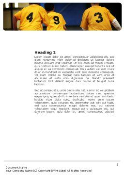 School Basketball Team Word Template, Second Inner Page, 03666, Sports — PoweredTemplate.com